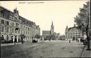 Ak Erfurt in Thüringen, Anger mit Hauptpost, Ottmar Zieher 912