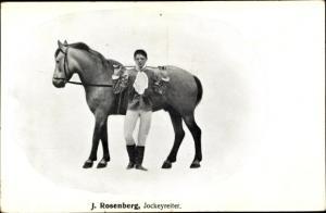 Ak J. Rosenberg, Jockeyreiter, Pferd
