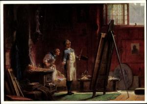 Künstler Ak Spitzweg, Carl, Der Portraitmaler