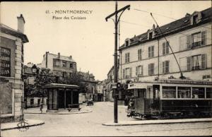 Ak Montmorency Val-de-Oise, Place des Cerisiers