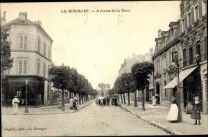 Ak Le Bourget Seine-Saint-Denis, Avenue de la Gare