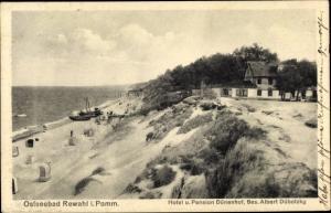Ak Rewal Rewahl Pommern, Hotel und Pension Dünenhof