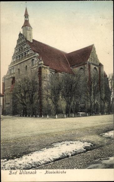 Ak Bad Wilsnack in der Prignitz, Nicolaikirche 0