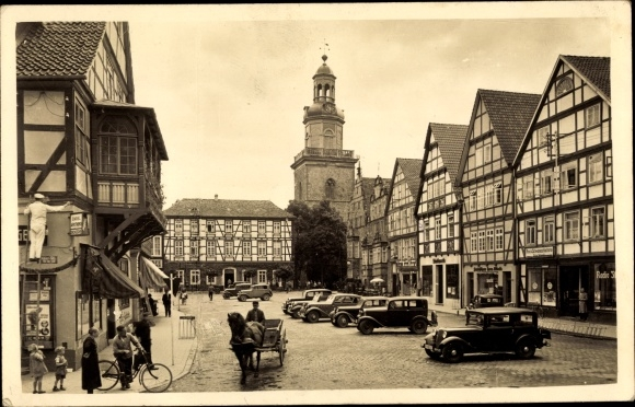 Foto Ak Rinteln an der Weser, Marktplatz 0
