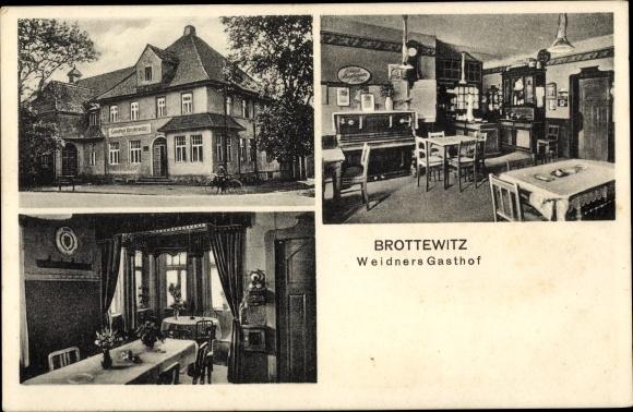 Ak Brottewitz Mühlberg an der Elbe Brandenburg, Weidners Gasthof, Klavier 0