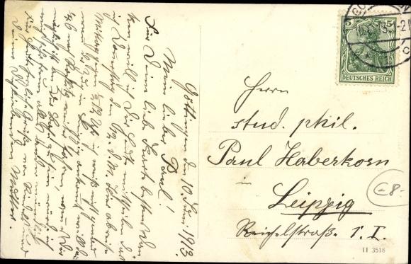 Ak Göttingen in Niedersachsen, Bismarck als Göttinger Student, Studentenwohnung 1833, Karzertür 1