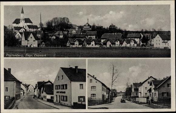 Ak Mallersdorf-Pfaffenberg in Niederbayern, Panorama vom Ort, Straßenpartie 0