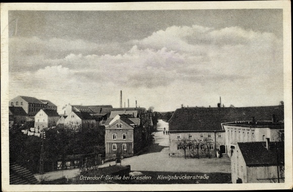Ak Ottendorf-Okrilla in Sachsen, Königsbrücker Straße, Gasthof zum Hirsch 0