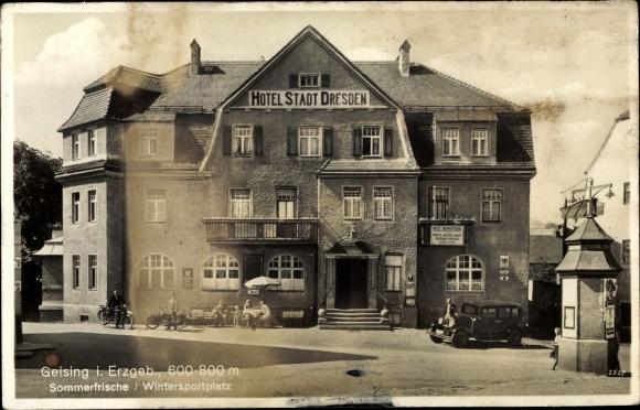 Ak Geising Altenberg Erzgebirge, Hotel Stadt Dresden 0