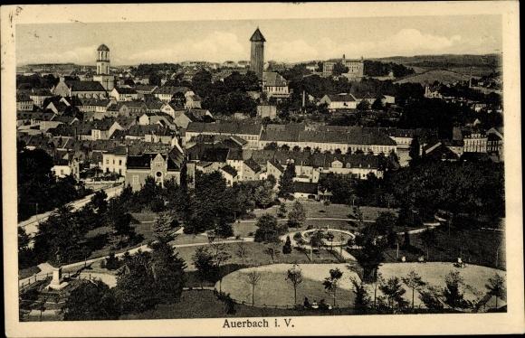 Ak Auerbach im Vogtland Sachsen, Panorama vom Ort 0