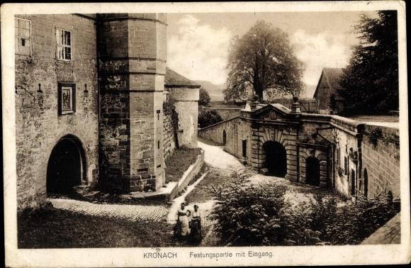 Ak Kronach im Frankenwald Bayern, Festungspartie mit Eingang 0