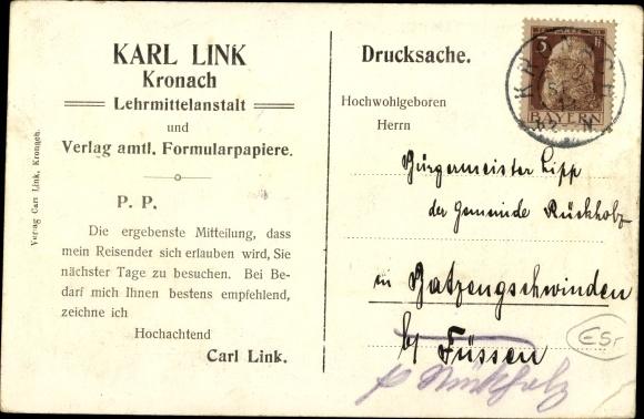 Ak Kronach im Frankenwald Bayern, Festungspartie mit Eingang 1