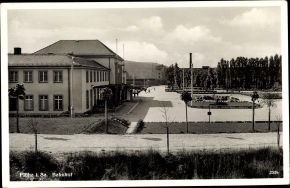 Ak Flöha in Sachsen, Bahnhof 0