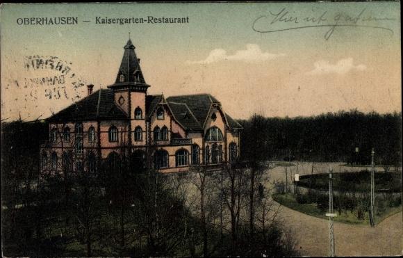 Ak Oberhausen im Ruhrgebiet, Kaisergarten Restaurant 0