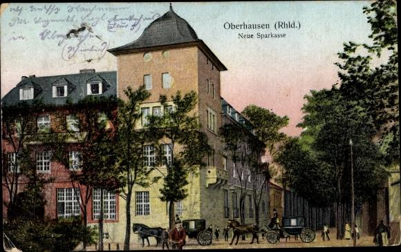 Ak Oberhausen im Ruhrgebiet, Neue Sparkasse 0