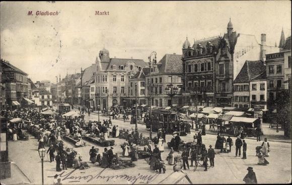 Ak Mönchengladbach in Nordrhein Westfalen, Marktplatz 0