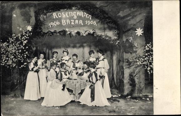 Ak Duisburg im Ruhrgebiet, Rosengarten Bazar 1906 0