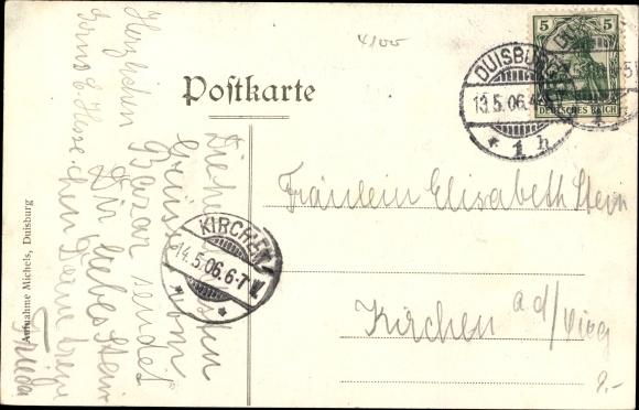Ak Duisburg im Ruhrgebiet, Rosengarten Bazar 1906 1