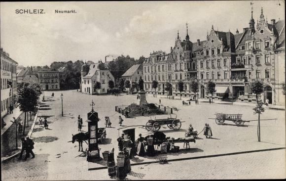 Ak Schleiz im Vogtland Thüringen, Neumarkt 0