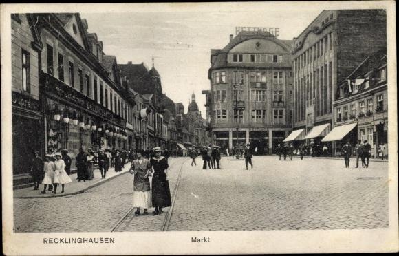 Ak Recklinghausen im Ruhrgebiet, Marktplatz 0