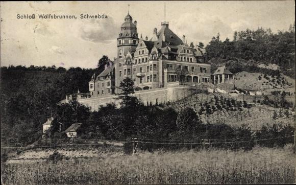 Ak Schwebda Meinhard im Werra Meißner Kreis, Schloss Wolfsbrunnen 0