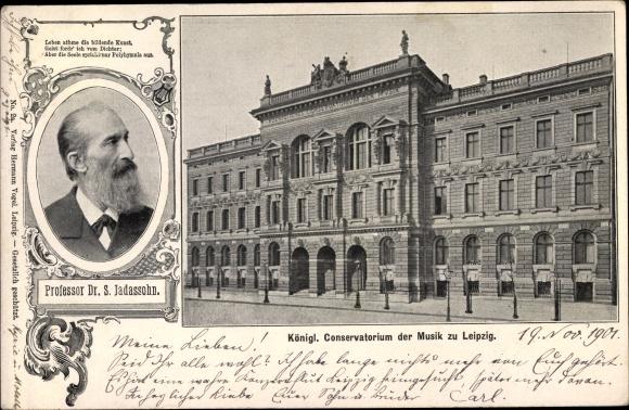 Ak Leipzig in Sachsen, Kgl. Konservatorium, Prof. Dr. S. Jadassohn 0