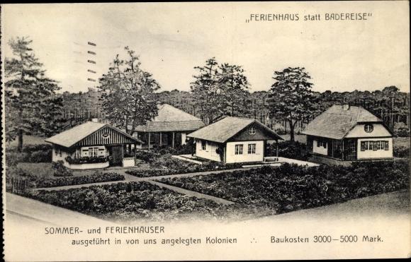 Ak Hoppegarten in Brandenburg, Sommer- und Ferienhäuser, Ferienhaus statt Badereise 0
