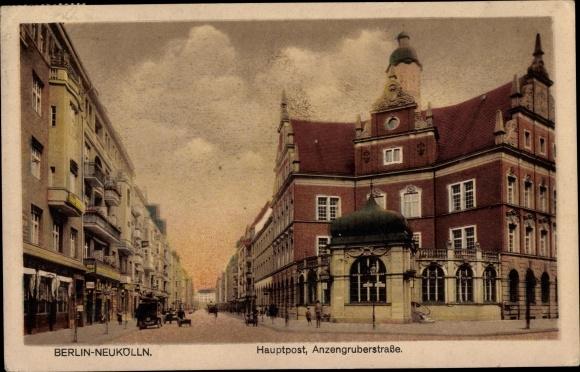 Ak Berlin Neukölln, Hauptpost, Anzengruber Straße 0