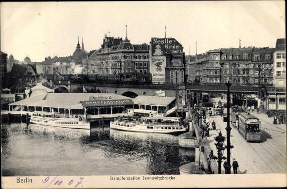 Ak Berlin, Dampferstation Jannowitzbrücke 0