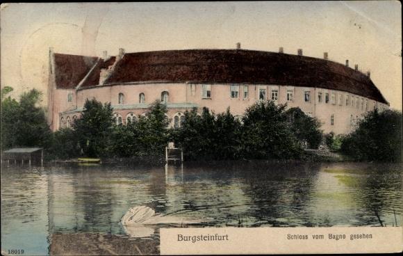 Ak Burgsteinfurt Steinfurt in Nordrhein Westfalen, Schloss vom Bagno gesehen 0