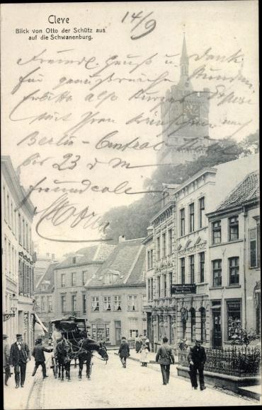 Ak Kleve am Niederrhein, Blick von Otto der Schütz aus auf die Schwanenburg 0