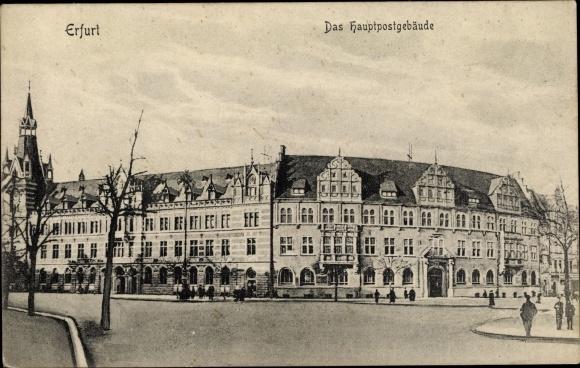 Ak Erfurt in Thüringen, Hauptpostamt 0