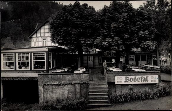 Ak Treseburg Thale im Harz, HO Gaststätte Bodetal 0