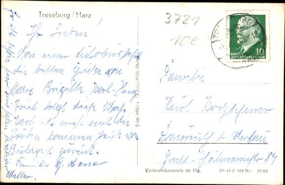 Ak Treseburg Thale im Harz, HO Gaststätte Bodetal 1