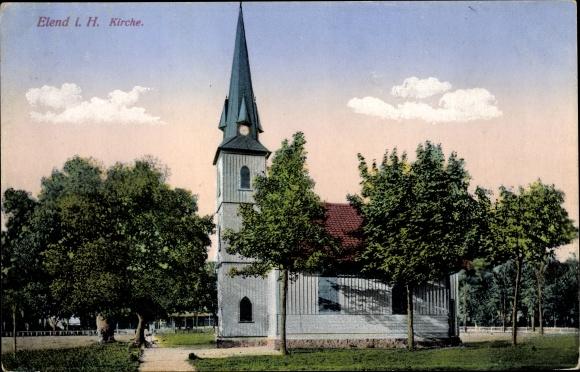 Ak Elend Oberharz am Brocken, Kirche 0