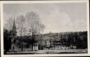 Ak Elend Oberharz am Brocken, Kirche und FDGB Heim Hubertus