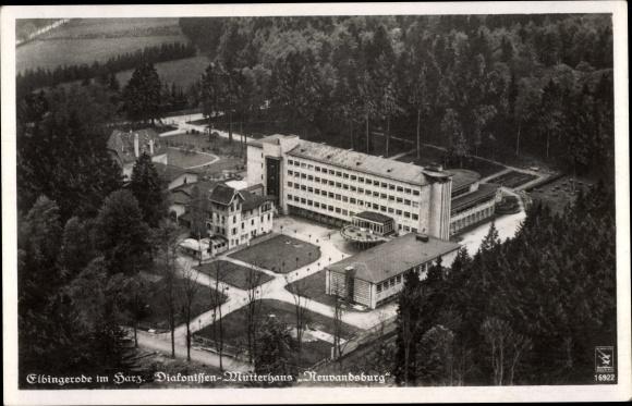Ak Elbingerode Oberharz am Brocken, Diakonissenmutterhaus Neuvandsburg, Fliegeraufnahme 0