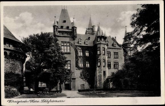 Ak Wernigerode am Harz, Schlossterrasse 0