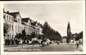 Ak Halberstadt in Sachsen Anhalt, Spiegelstraße und Dom