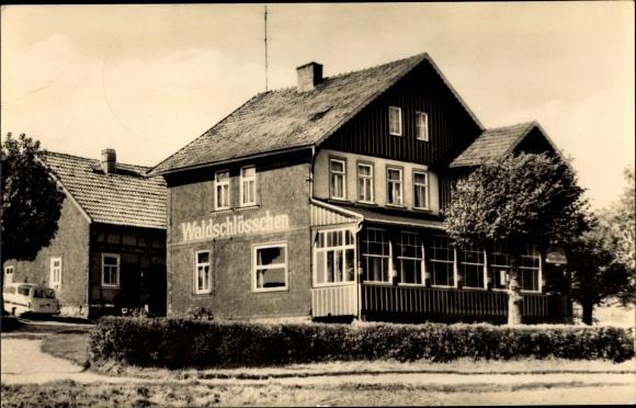 Ak Finsterbergen Friedrichroda Thüringen, Café Waldschlößchen 0