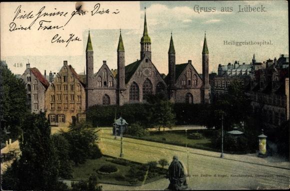 Ak Lübeck in Schleswig Holstein, Heiliggeistspital 0
