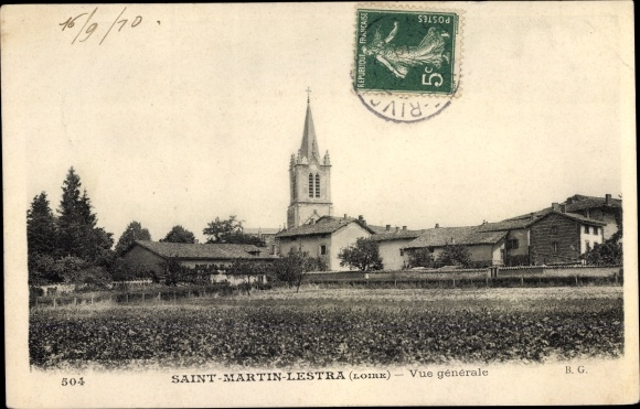 Ak Saint Martin Lestra Loire, Vue générale 0