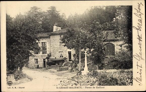 Ak St. Genest Malifaux Loire, Ferme de Gaillard 0