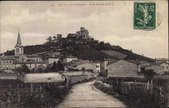 Ak St. Romain le Puy Loire, Totalansicht 0