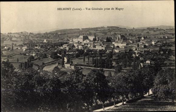 Ak Belmont Loire, Vue générale prise de Magny 0