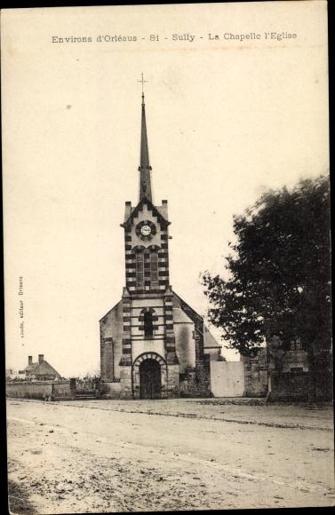Ak Sully Loiret, La Chapelle l'église 0