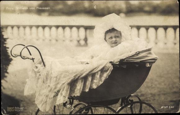 Ak Prinz Wilhelm von Preußen, Kinderwagen 0