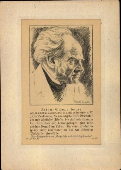 Künstler Ak Arthur Schopenhauer, Philosoph, Portrait 0