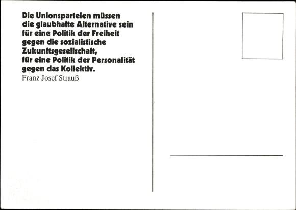 Ak Franz Josef Strauß, CSU, Portrait 1
