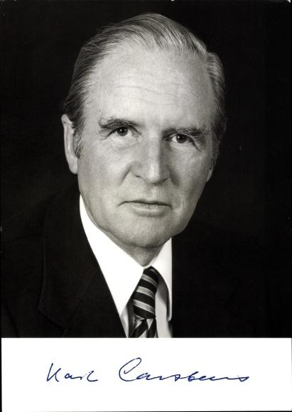 Ak Brundespräsident Prof. Dr. Karl Carstens 0